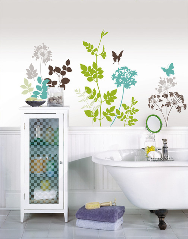 creative bathroom wall decals  home design lover,