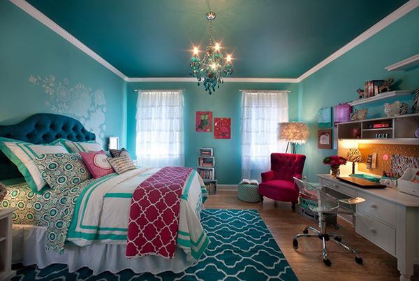 Aqua. 20 Bedroom Paint Ideas For Teenage Girls   Home Design Lover