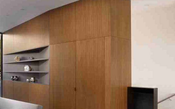 wooden built-in cabinet