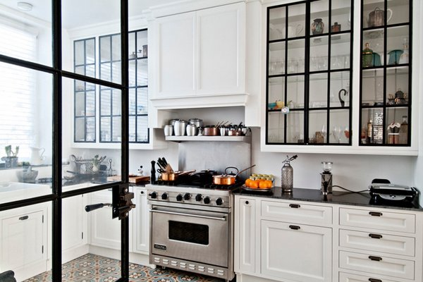 20 Gorgeous Glass Kitchen Cabinet Doors | Home Design Lover