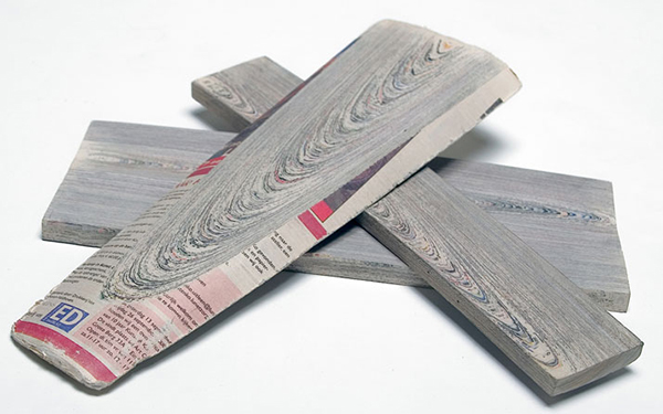 Newspaper Wood: A New Material Using Paper to Make Wood