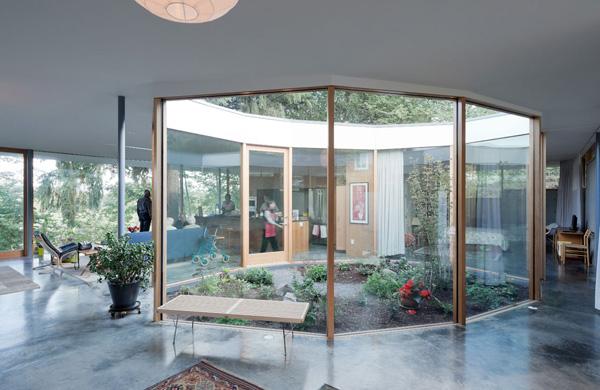 garden glass wall