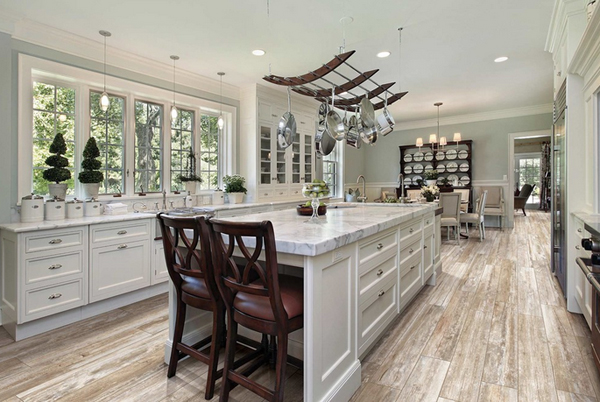 Boardwalk Myrtle Beach - 23 Wooden Finished Porcelain Tile Kitchen Floor Home Design Lover