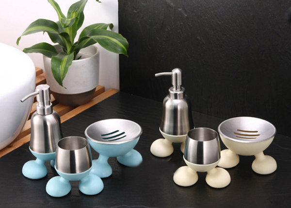 Cute Duck Shaped Ceramic Bathroom Accessories Set For Kids