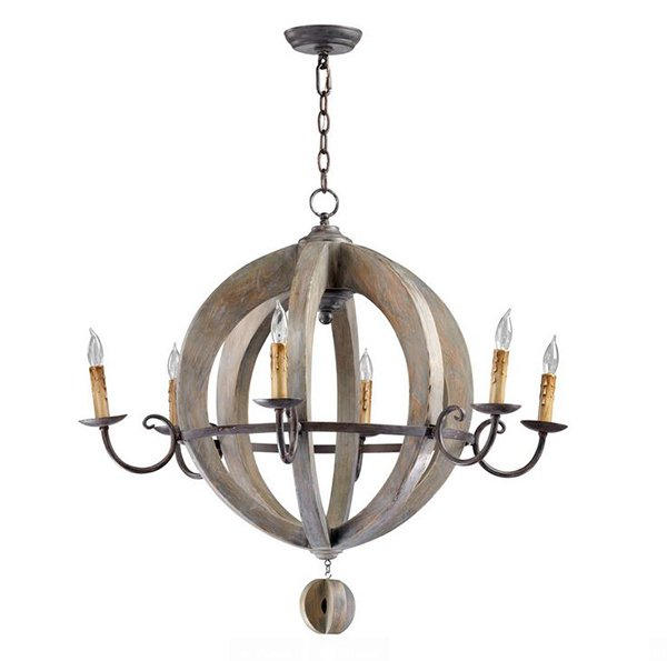 French Carved Light Chandelier