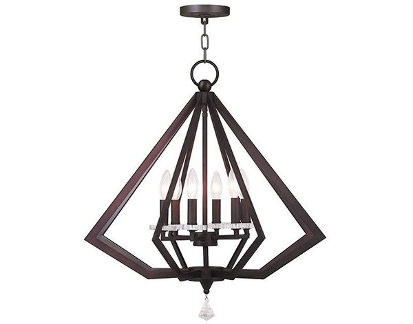 Bronze Diamond Candle Chandelier