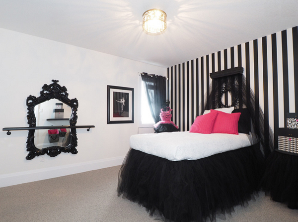 20 Gorgeous Pink and Black Accented BedroomsHome Design Lover