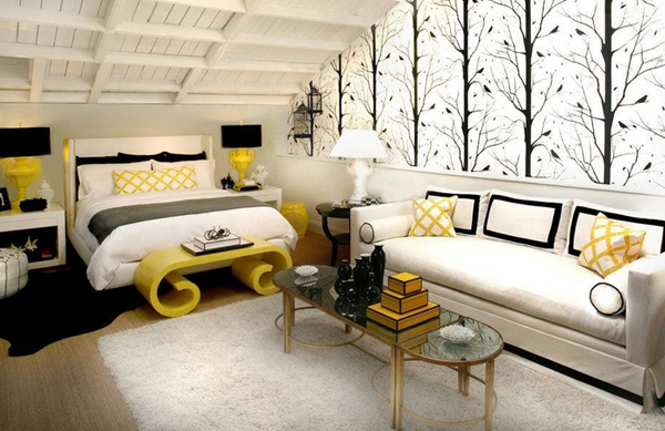 Black and Yellow Bedrooms