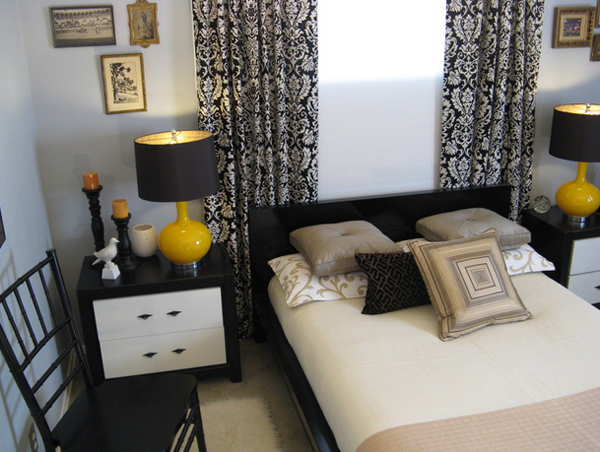 sophisticated black and yellow bedrooms  home design lover,