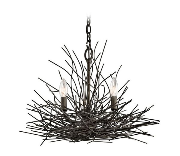 Bronze Mini-Chandelier