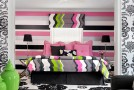 pink black bedroom