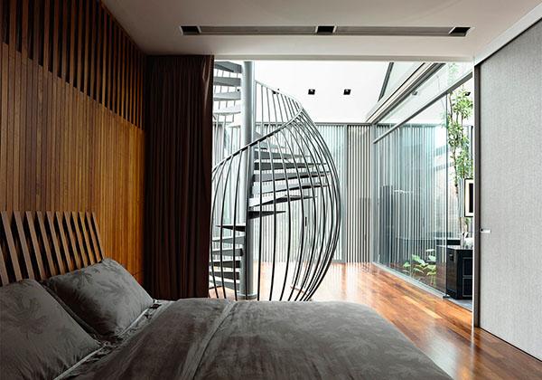 unique metal staircase