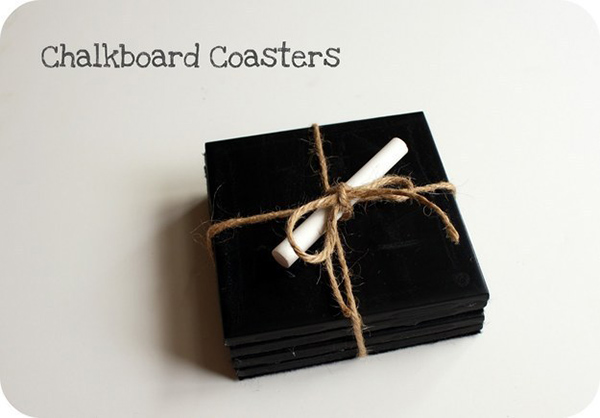 Chalkboard Paint Coasters