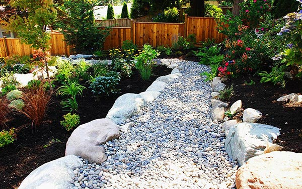 pebble path boulder