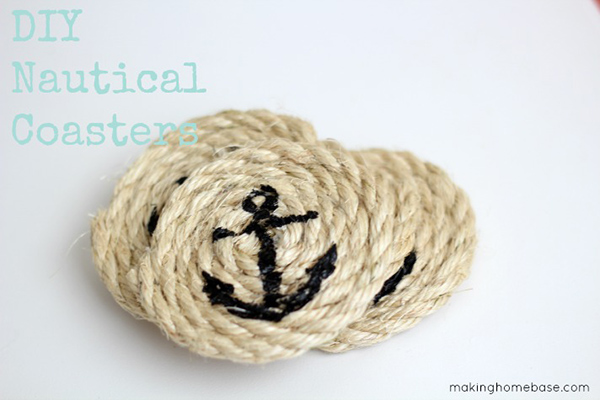 DIY Nautical Sisal Rope Coasters