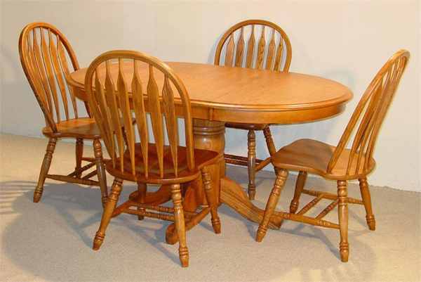 20 Outstanding Oval Oak Dining Room Tables | Home Design Lover
