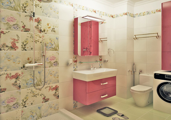 Bathroom Tiles at Bedroom