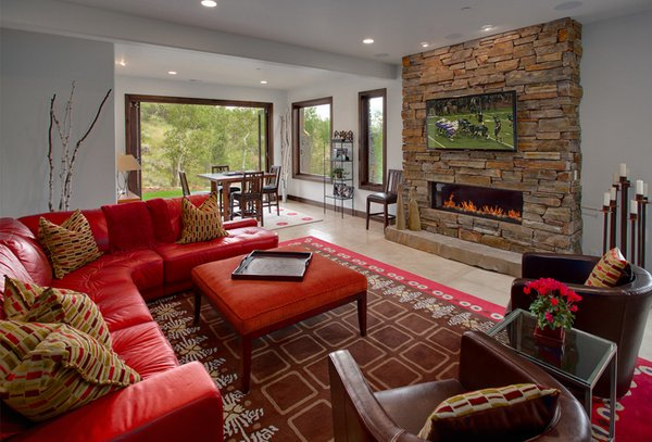 22 Beautiful Red Sofas in the Living RoomHome Design Lover