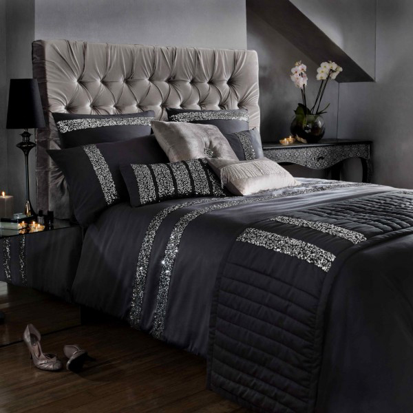 6 Black And Silver Bedding Sets