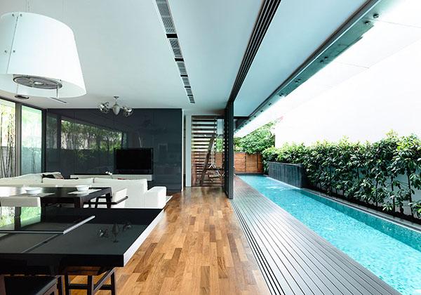 long swimming pool