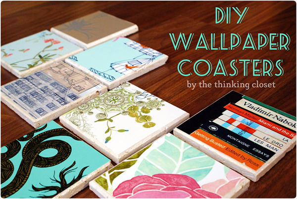 DIY Wallpaper Coasters