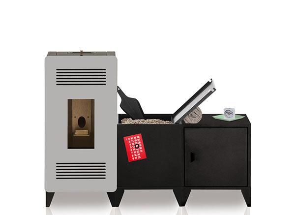 MIA modular pellet stove
