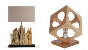 wood tablelamp