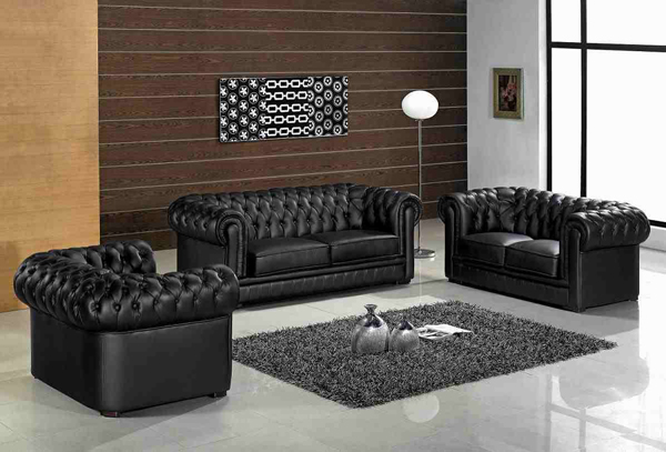 modern leather furniture - 20 Modern Leather Living Room Furniture Home Design Lover