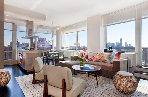 ottoman. 20 Design Ideas for Condo Living Areas   Home Design Lover