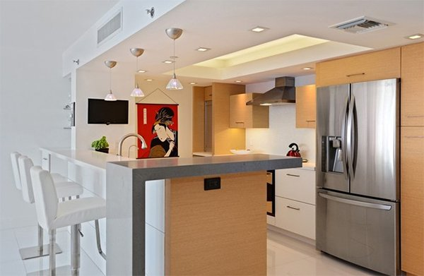 Awe Inspiring 20 Dashing And Streamlined Modern Condo Kitchen Designs Home Largest Home Design Picture Inspirations Pitcheantrous