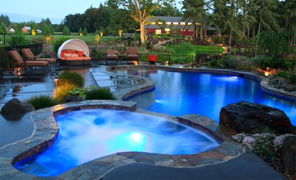 tranquil backyard pool