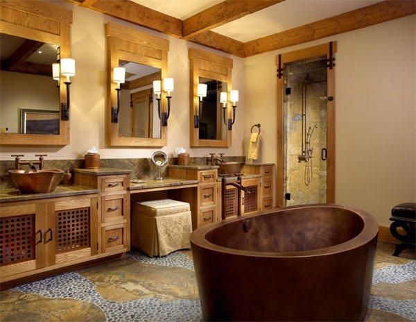 rustic bathtub