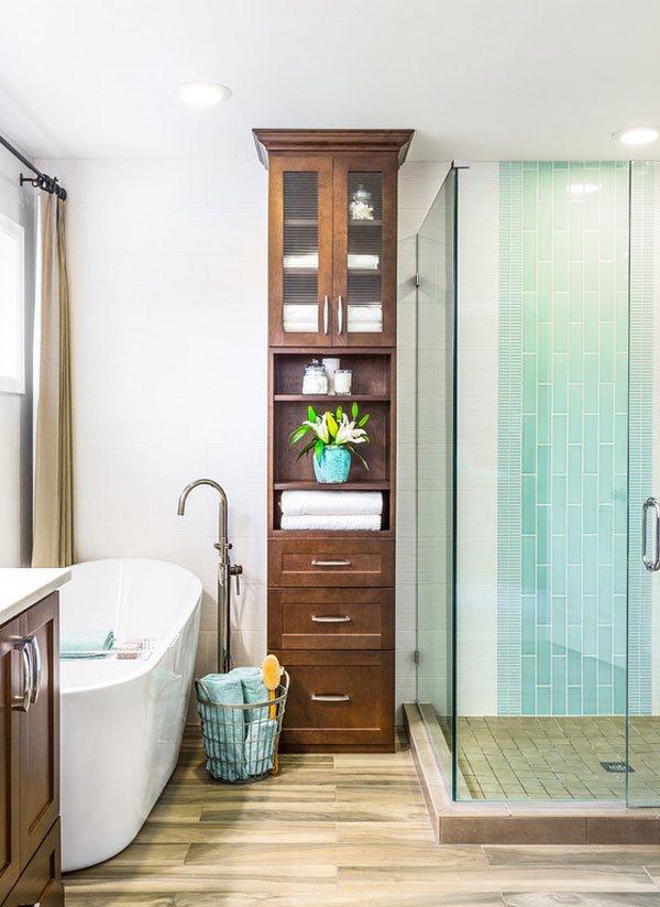 20 clever designs of bathroom linen cabinets | home design lover