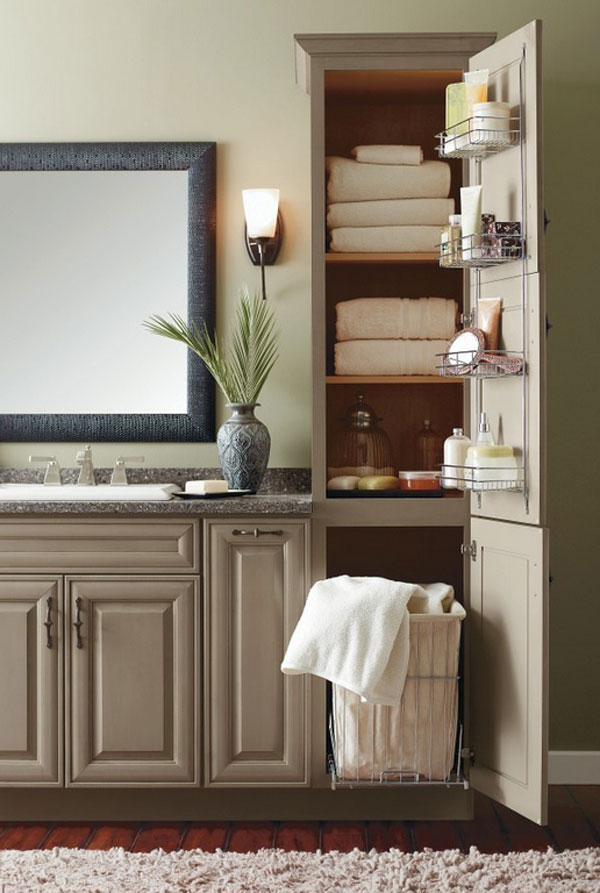 clever designs of bathroom linen cabinets  home design lover,