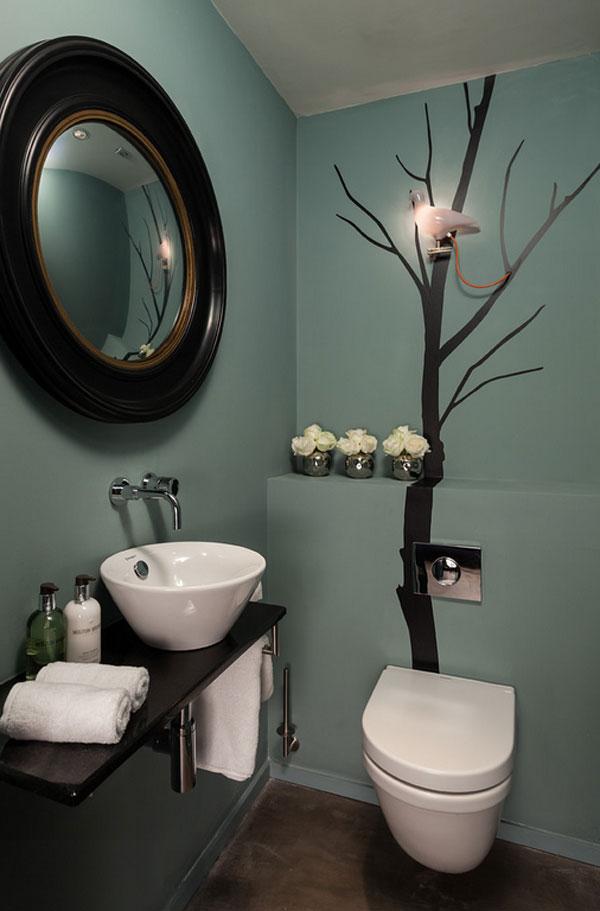 Tree Wallpaper Bathroom Wall