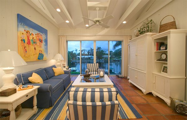 beach themed michelle cole designs - Condo Interior Design Ideas