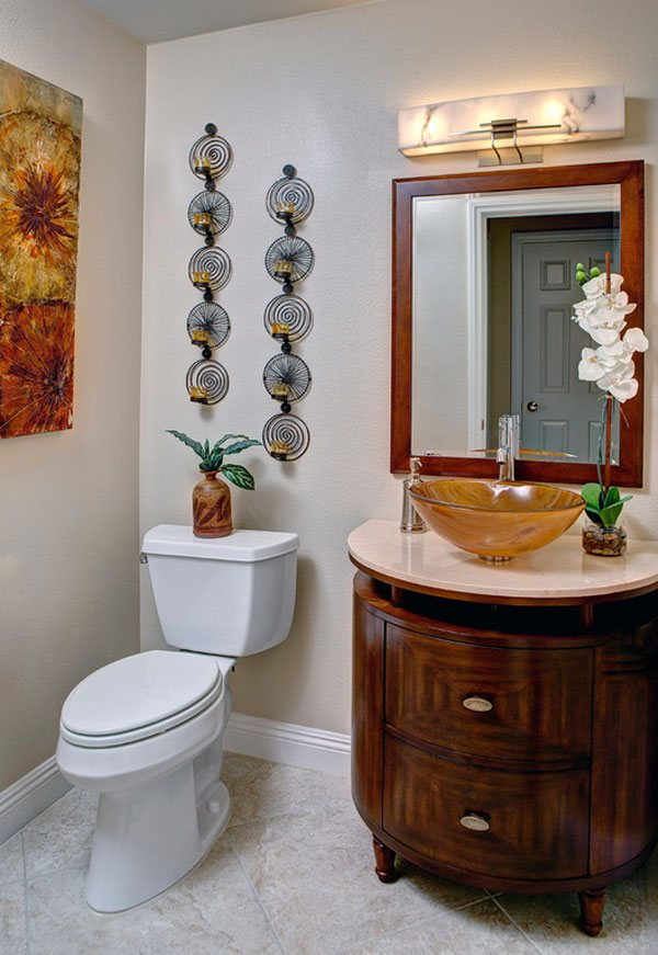 candle holder bathroom decor ideas. 22 Eclectic Ideas of Bathroom Wall Decor   Home Design Lover