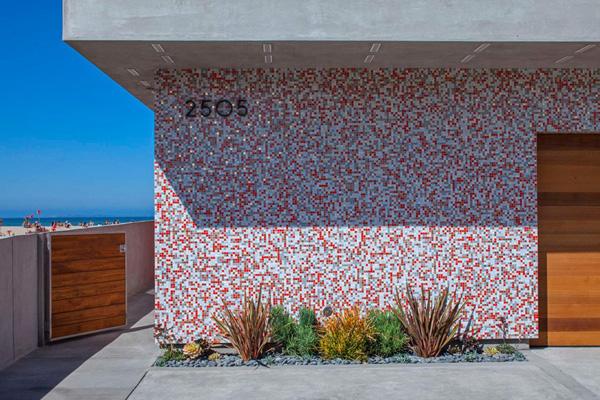 pixelated wall