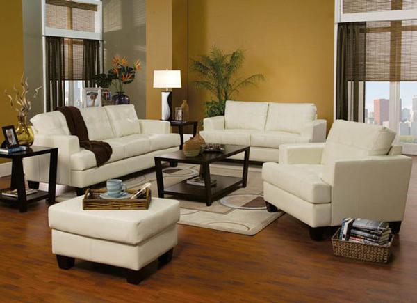 Beige furniture - 20 Modern Leather Living Room Furniture Home Design Lover