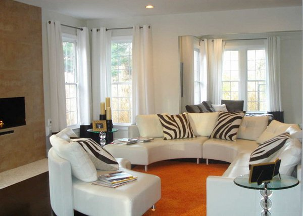 20 Clean And Gorgeous White Sofa Living Room | Home Design Lover