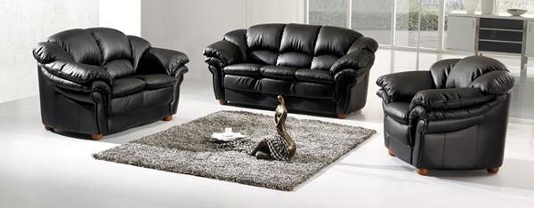 8. European Modern Leather Sofa - 20 Modern Leather Living Room Furniture Home Design Lover