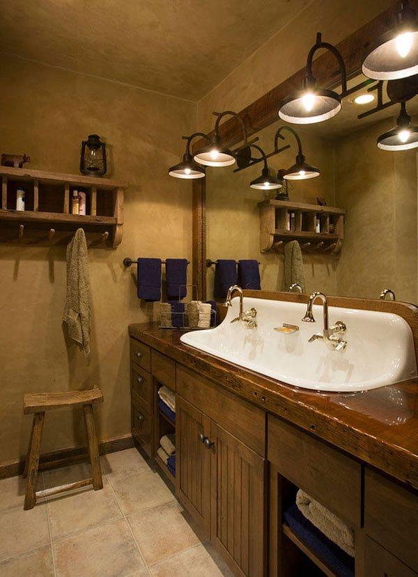 white sink Rustic Bathroom. 26 Impressive Ideas of Rustic Bathroom Vanity   Home Design Lover