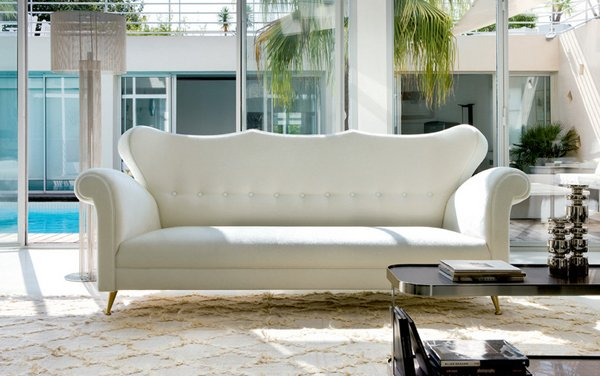 9. Miami Style Living Room - 20 Clean And Gorgeous White Sofa Living Room Home Design Lover