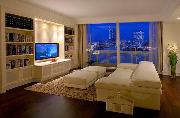 Dramatic Lights  luxurious condo living room. living room design ideas for condos living room decorating ideas