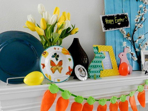 Easter-theme mantel tutorial