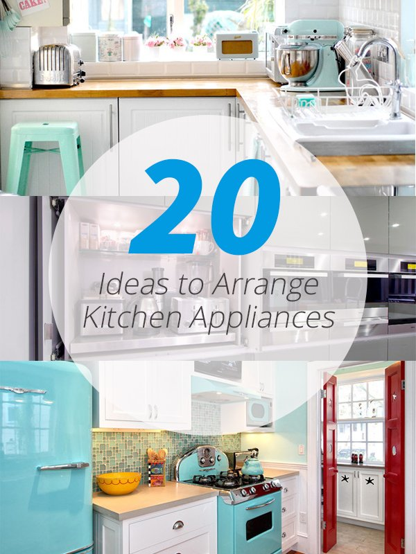 wonderful How To Arrange Kitchen Appliances #2: kitchen appliances arrangement