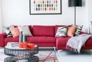 pink sofa lr