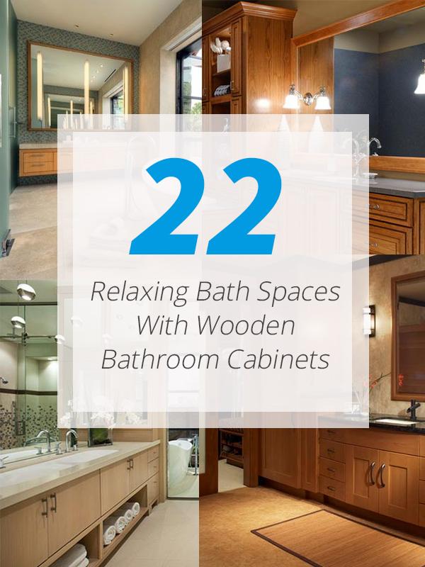 wooden cabinets bathroom