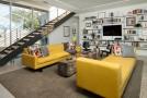 yellow livingroom sofa