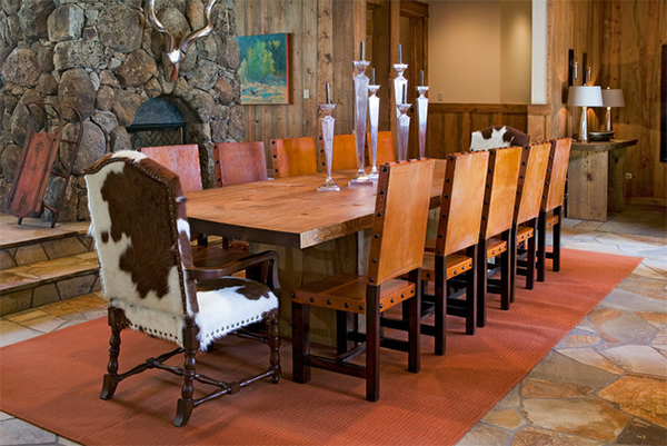 Cowhide Dining Chairs Grace 20 Lovely Dining AreasHome Design Lover